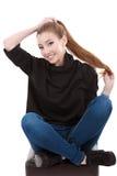 una mujer hermosa con el pelo largo Fotografía de archivo libre de regalías