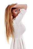 una mujer hermosa con el pelo largo Fotografía de archivo