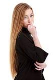 una mujer hermosa con el pelo largo Foto de archivo