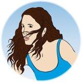 Una mujer hermosa (vector) ilustración del vector
