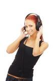 Una mujer joven y feliz del caucásico del redhead Imagen de archivo libre de regalías