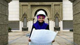 Una mujer musulmán joven del arquitecto Imagen de archivo libre de regalías