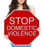 Pare la violencia en el hogar Fotografía de archivo libre de regalías