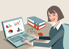 Mujer de la oficina Ilustración del Vector