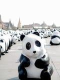 Una multitud de destello de 1600 pandas Foto de archivo libre de regalías