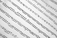 Una musica di strato in pieno delle note Fotografia Stock