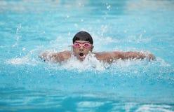 Una natación joven del nadador del ajuste Imagen de archivo libre de regalías
