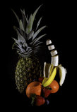Banana di galleggiamento Immagine Stock Libera da Diritti