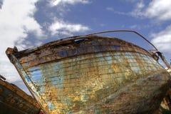 Una nave abandonned Fotografia Stock