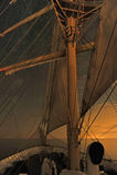 Una nave alta debajo de las estrellas Imagenes de archivo