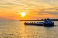 Una nave da carico Fotografie Stock