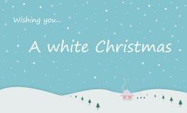 Una Navidad blanca ilustración del vector