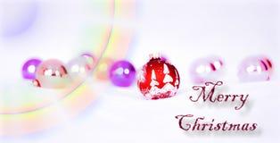 Una Navidad con el arco iris de colores brillantes Fotografía de archivo libre de regalías