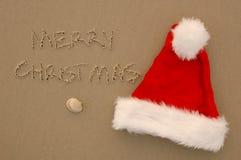 Una Navidad de la playa fotografía de archivo