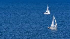 una navigazione di 2 navi fotografia stock