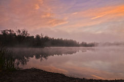 Una neblina mágica de la mañana Fotos de archivo