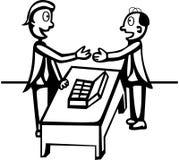 Una negoziazione dei due mens illustrazione vettoriale