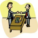 Una negoziazione dei due mens illustrazione di stock
