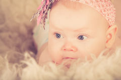 Una neonata Fotografia Stock
