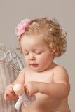 Una neonata di anni Immagini Stock
