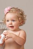 Una neonata di anni Immagine Stock