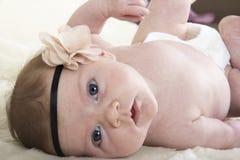 una neonata di mese Fotografie Stock