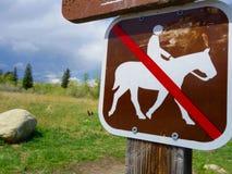 Una nessun'equitazione firma dentro il Wyoming Fotografie Stock Libere da Diritti