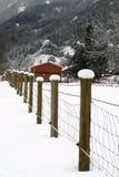 Una neve ha superato la rete fissa Fotografia Stock Libera da Diritti