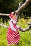 Una niña en un sarafan Imagen de archivo
