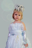Una niña en una alineada elegante Fotografía de archivo libre de regalías