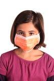 Una niña enferma Imagenes de archivo