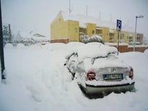 Una nieve grande en Italia Imagen de archivo
