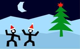 Una noche antes de la Navidad ilustración del vector