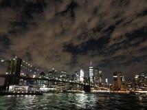 Una noche con Nueva York Imágenes de archivo libres de regalías