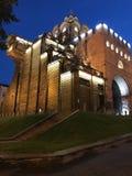 Una noche dramática tiró de las puertas de oro de Kyiv - UCRANIA Fotografía de archivo