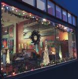 Una noche en Bisbee durante los días de fiesta Foto de archivo libre de regalías