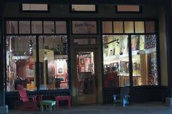 Una noche en Bisbee durante los días de fiesta Fotografía de archivo