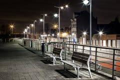 Opinión de la noche sobre el embarcadero Fotografía de archivo