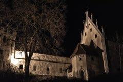 Una noche en el castillo Imagen de archivo libre de regalías