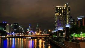 Una noche en Melbourne Foto de archivo libre de regalías