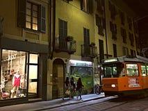 Una noche hacia fuera en Milán Fotografía de archivo libre de regalías