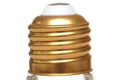Una norma ha infilato l'isolamento di alloggio basso di una lampadina della luce a incandescenza Immagine Stock Libera da Diritti