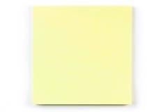 Una nota de post-it amarilla Fotos de archivo libres de regalías