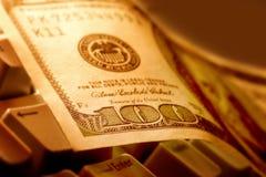 una nota dei $100 dollari Fotografie Stock