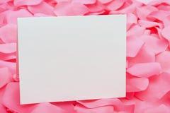 Una nota vacía Imágenes de archivo libres de regalías
