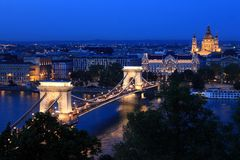 Una notte a Budapest Immagini Stock Libere da Diritti