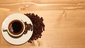Una notte della tazza di caffè Fotografia Stock Libera da Diritti