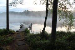 Una notte di estate in Finlandia Immagini Stock