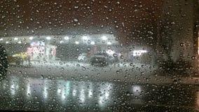 Una notte di Snowy Fotografie Stock