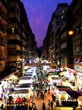 Una notte in Hong Kong Fotografia Stock
